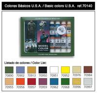 Basic Colors USA Model Color Paint Set (16 Colors) 17ml Bottle Acrylic