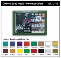 Medieval Colors Model Color Paint Set (16 Colors) 17ml Bottle Acrylic