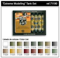 Extreme Modelling Tank Model Air Color Paint Set (16 Colors) 17ml Bottle Acrylic