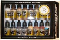 Weathering Model Air Color Paint Set (16 Colors) 17ml Bottle Acrylic
