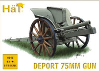 WWI Deport 75mm Gun (4) 1/72 Hat