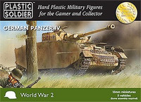 WWII German Panzer IV Tank 15mm (5) Plastic Soldiers