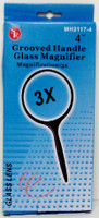 "Round Glass Magnifier 4"" 3x Power"