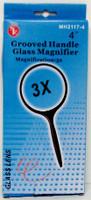 "Round Glass Magnifier 4"" 3x Power"