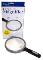 "Large Round Magnifier 5""  2x & 6x Power"