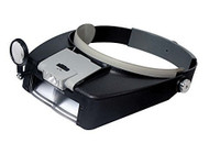 Lighted Dual Lens Headband Magnifier 1.9x, 3.8x, 6.4x & 8.4x Power
