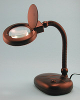 "Flexible Neck Table Magnifier Lamp 12""  5x Power"