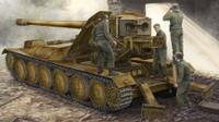 German Krupp 1 12.8cm PaK 44 Waffentrager Weapons Carrier 1/35 Trumpeter