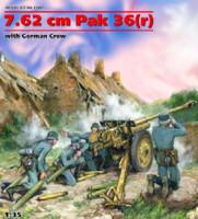 Gun 7.62cm PaK 36(r) w/4 Crew 1/35 ICM Models