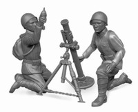 Soviet 82mm Mortars (2) with Crew (4) 1941-43 (Snap Kit) 1/72 Zvezda