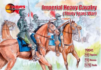 Thirty Years War Imperial Heavy Cavalry (12 w/Horses) 1/72 Mars Figures