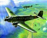 Junkers Ju-52 Transport Aircraft (Snap Kit) 1/200 Zvezda