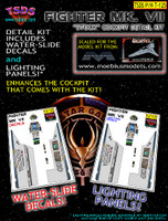 Moebius Viper MK VII Fighter Cockpit Decals - Lighting Panel kit TSDS