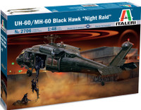 UH-60/MH60 Black Hawk Night Raid Helicopter 1/48 Italeri