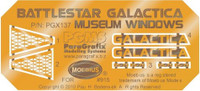 Battlestar Galactica BS75 Spaceship Museum Windows & Name Plates Photo-Etch Set for MOE 1/4105 Paragrafix