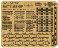 Battlestar Galactica BS75 Spaceship Super Photo-Etch/Decal Set for MOE 1/4105 Paragrafix