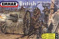 British 18Pdr Gun WWI 1/72 Emhar