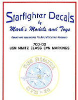 USN Nimitz Class CVN68 Markings for TSM 1/700 Starfighter Decals