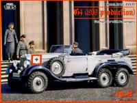 G4 1939 German Staff Car w/4 Figures 1/35 ICM Models