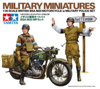 British BSA M20 Motorcycle w/Rider & MP 1/35 Tamiya