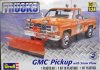 GMC Pickup Truck w/ Snow Plow 1/24 Revell Monogram
