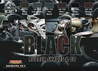 Black Rubber Shades Acrylic Set (6 22ml Bottles) Life Color