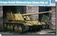 German Krupp/Ardelt 88mm Pak 43 Waffentrager Weapons Carrier 1/35 Trumpeter
