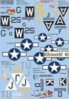 B-17 A Bit O' Lace, My Devotion, American Beauty, Little Miss Mischief 1/144 Warbird Decals