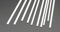 .080 x 1/8 Rectangular Rods Styrene (10) Plastruct Supplies