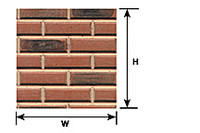 1/12 Red Brick Plastic Pattern Sheet  Plastruct Supplies