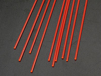 1/16 Red Fluorescent Acrylic Rods (10) Plastruct Supplies