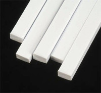 5/32 x 1/4 Rectangular Rods Styrene (5) Plastruct Supplies