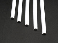 1/4 Half Round Rods Styrene (5) Plastruct Supplies