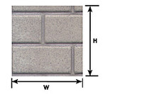 1/12 Cement Block Plastic Pattern Sheet (1) Plastruct Supplies