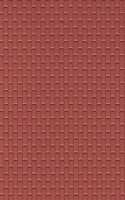 G Red Brick Plastic Pattern Sheet (2) Plastruct Supplies