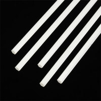 .100 Hexagonal Rods Styrene (5) Plastruct Supplies