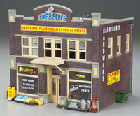 Built-N-Ready Harrison's Hardware Store O Scale Woodland Scenics