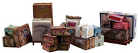 Scenic Accents Miscellaneous Packaged Freight (Boxes, Crates, Sacks Total 6 diff.) O Woodland Scenics