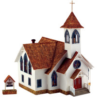 Built-N-Ready Community Church HO Scale Woodland Scenics