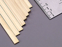 ".064""x1/4""x12"" Brass Strips (1) K&S Engineering"