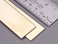".064""x1""x12"" Brass Strips (1) K&S Engineering"