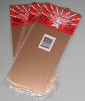 ".025"" Copper Sheet Metal 4""x10"" (3) K&S Engineering"