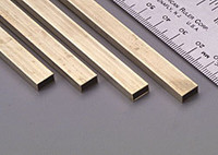 "5/32""x5/16""x12"" Rectangular Brass Tube .014 Wall (1) K&S Engineering"