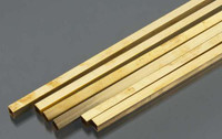 "1/4""x12"" Square Brass Tube .014 Wall (1) K&S Engineering"