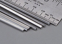 "3/32""x12"" Square Aluminum Tube .014 Wall K&S Engineering"