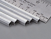 "7/32""x12"" Square Aluminum Tube .014 Wall (1) K&S Engineering"