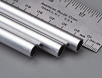 "3/8""x12"" Round Aluminum Tube .035 Wall (1) K&S Engineering"