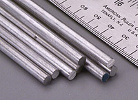 "3/16""x12"" Solid Aluminum Rod K&S Engineering"