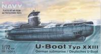 WWII Special Navy U-Boat Type XXIII German Submarine 1/72 Special Hobby
