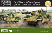 WWII German Panther Tank (5) 15mm Plastic Soldiers